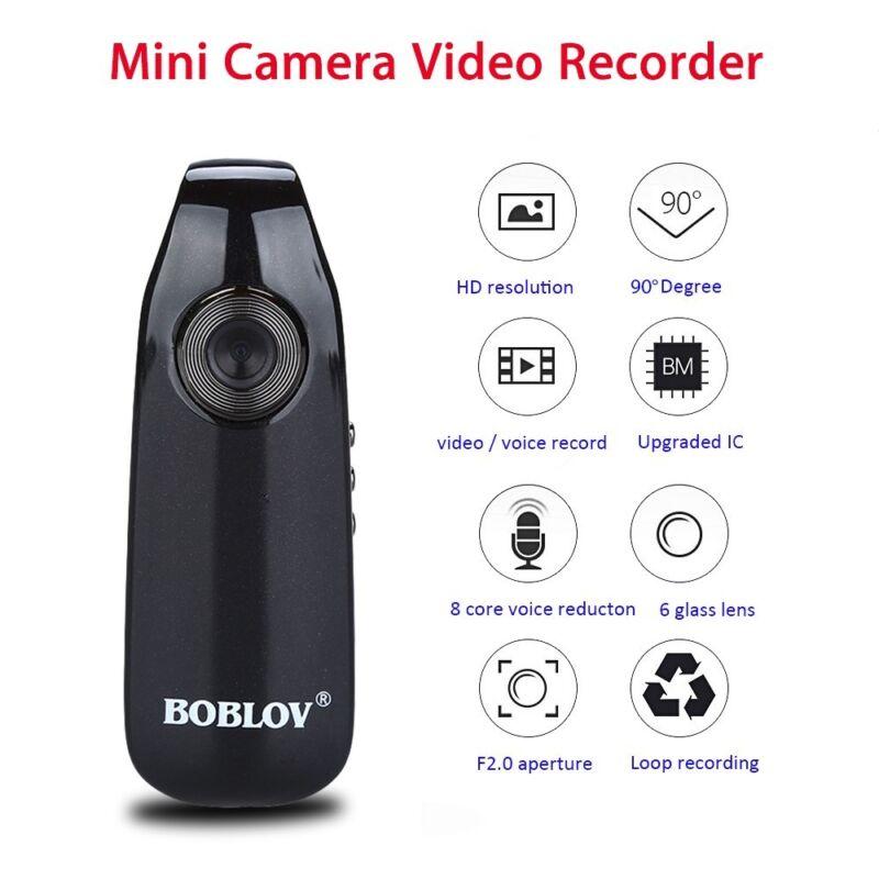 BOBLOV 1080P Full HD Mini Camera Dash Cam Police Body Bike H.264 Camcorder Wide