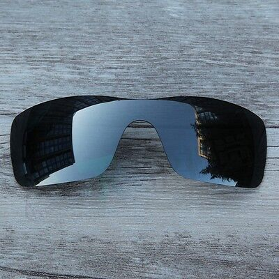 New Black Chrome Black Iridium Polarized  Lenses for-Oakley Batwolf