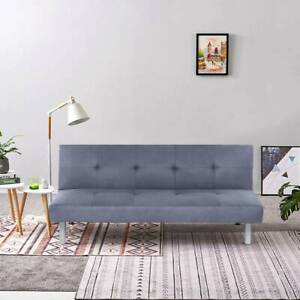Modern Sofa bed Brand New Fabric 3 Seater  Padded Sofabed Couch Recliner