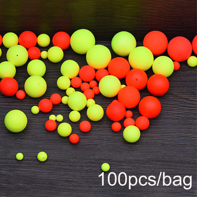 Pro 100PCS Night Foam Floats Ball Beans Bottom Fishing Float