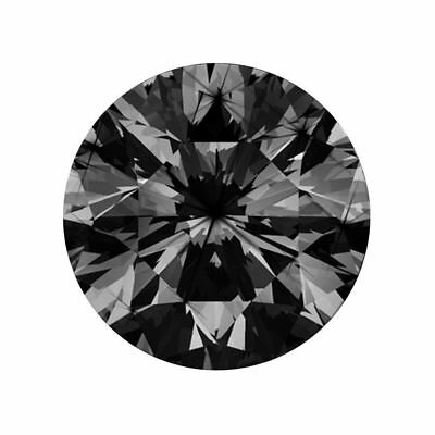 1.6mm Loose Round Black Diamond 0.015ct Excellent Cut Natural Earthmined Stone