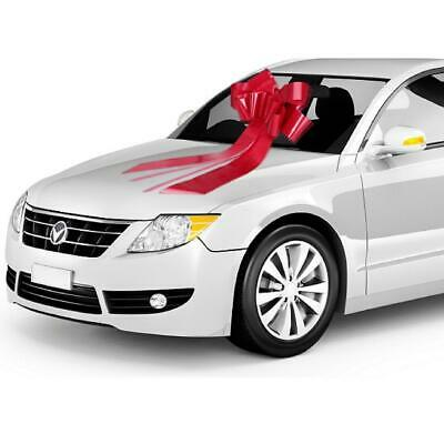 Zoe Deco Big Car Bow (23'' Red, 1 Pack), Gift Bows, Giant Bow for Car, Birthday - Big Bows For Cars