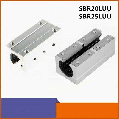Sbr25luu Sbr20luu 25mm 20mm Open Linear Bearing Slide Linear Motion Block Cnc
