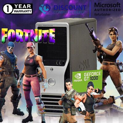 Dell Quad Core Gaming Tower Nvidia GT1030 16GB SSD+1TB Windows 10 Pro Desktop PC