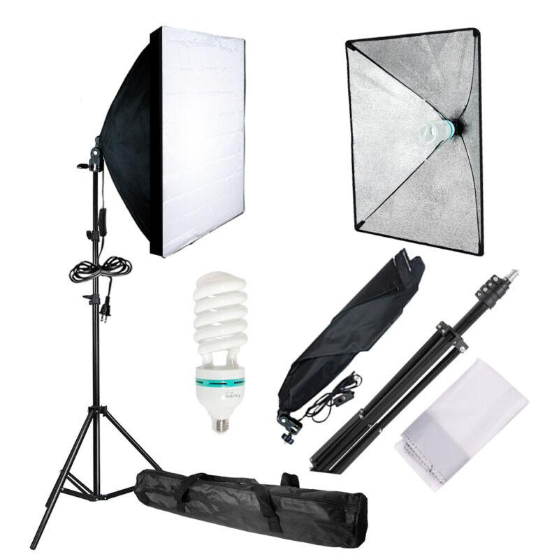 Photography Photo Video Studio Lighting Kit Softbox Stand Soft Box Studio Light