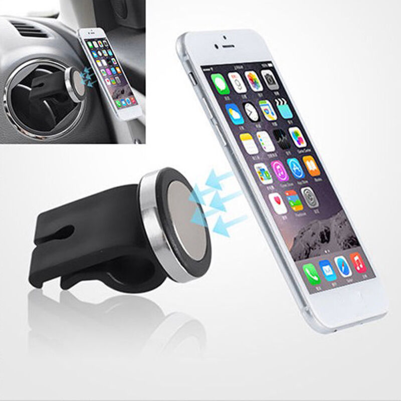 1x New Black Car SUV Air Vent Phone Holders Mounts Stand Magnetic For Cellphone