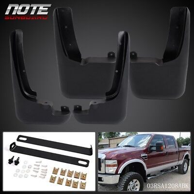 (Mud Flaps Splash Guards Molded For Ford F250 F350 1999 -2010 with Fender Flares)