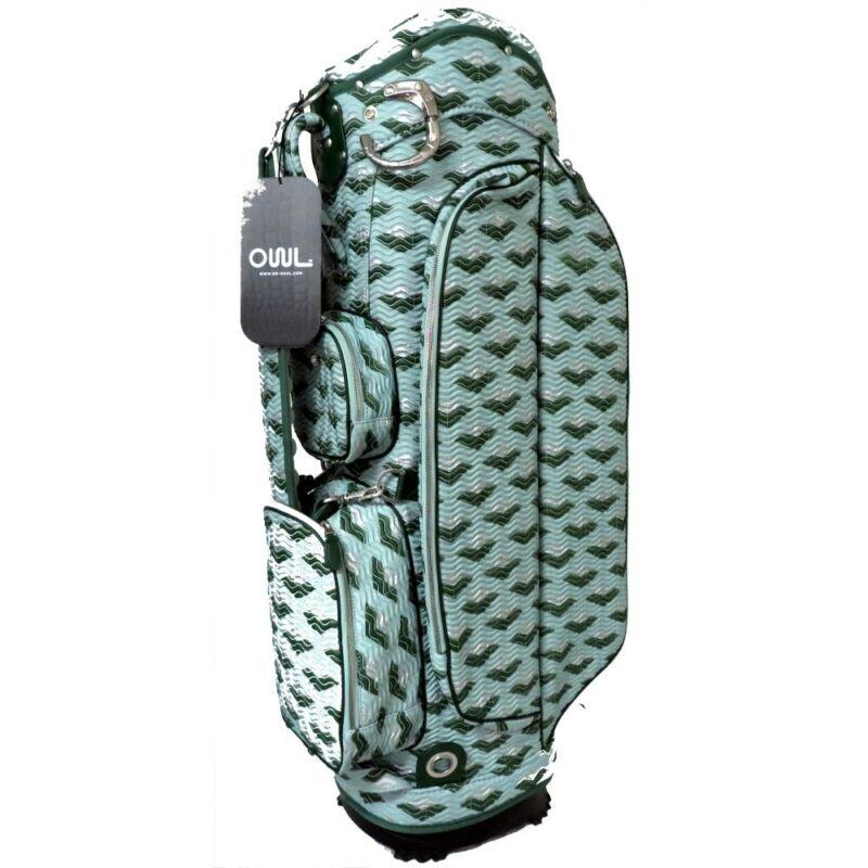 NEW Ouul Golf Asia Cart Bag 5-Way Top - Lady Light Green / Dark Green / Silver