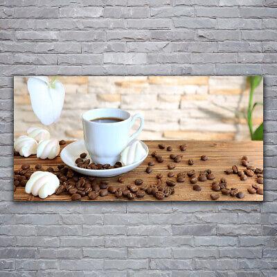 Tulup Cuadro sobre lienzo Foto lona Pared 120x60 Taza granos de café...