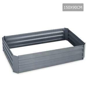 Grey Raised Garden Bed Galvanised Steel 150x90x30cm Elevated In Sydney City Inner Sydney Preview