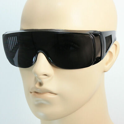 NEW Extra Large Fit Over Most Rx Glasses Safety Sunglasses Drive Super Dark (Sunglass Over Glasses)