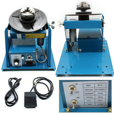 2.5 3 Jaw Rotary Welding Positioner Turntable Table Lathe Chuck 2-18 Rmin 110v