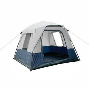 AUS FREE DEL-4 Person Family Outdoor Camping Tent - Navy Grey Sydney City Inner Sydney Preview