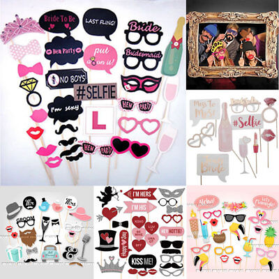 Hen Party Photo Booth Props Frame Wedding Bachelorette party Selfie Game Masks - Bachelorette Party Masks