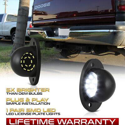 """1994-2001 Dodge RAM 1500 2500 3500 """"FULL LED"""" License Plate Light Lens Lamp Pair"""
