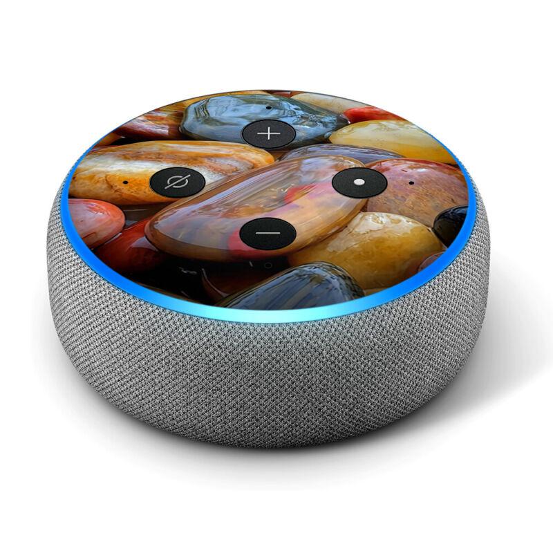 Vinyl Decal Skin for Amazon Echo Dot 3rd Gen - Electric Blue Glow Solid