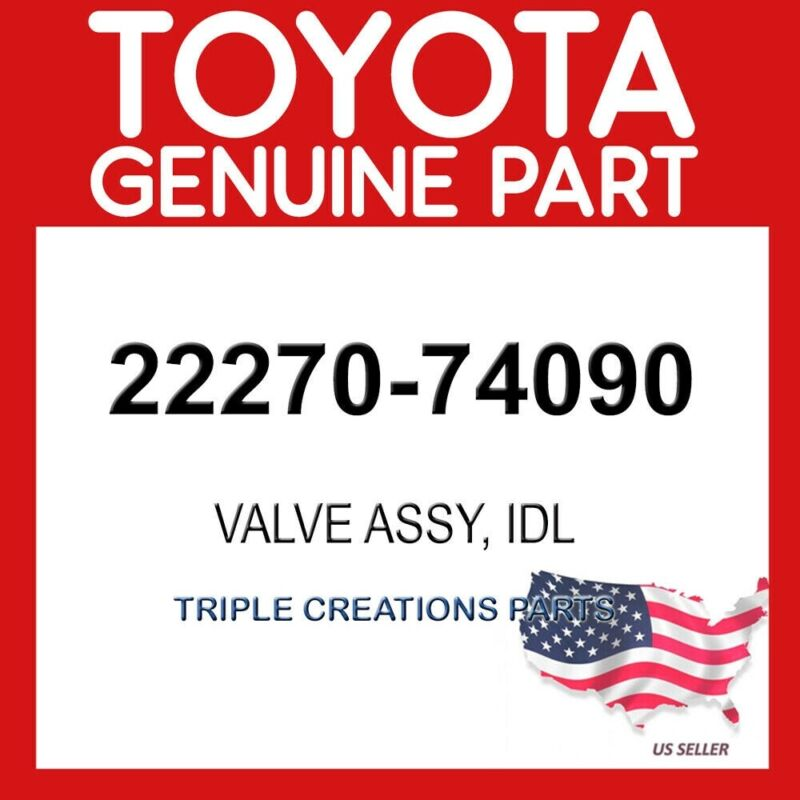 Toyota Genuine 2227074090 Valve Assy, Idle Speed Control(for Thlottle Body)