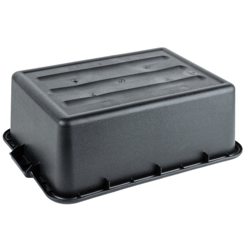 "6 PACK 20/"" x 15/"" x 7/"" Black Storage Plastic Restaurant Dishwasher Food Bus Tub"