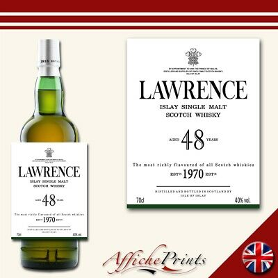 L125 Personalised Scotch Whisky Scottish Single Malt Whiskey Custom Bottle Label