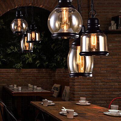 Vintage Chandelier Glass Ceiling Lamp Pendant Light Jars Shade Loft Antique -