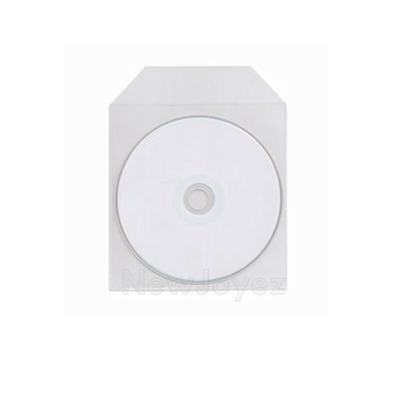 200 CPP Clear Plastic Sleeve Bag Envelope with Flap For CD DVD Disc 60 Microns