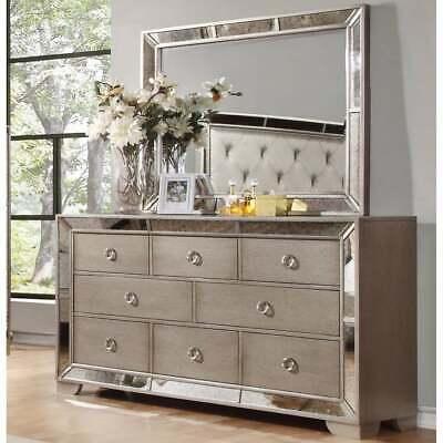 Best Master Furniture Silver Bronze Mirror