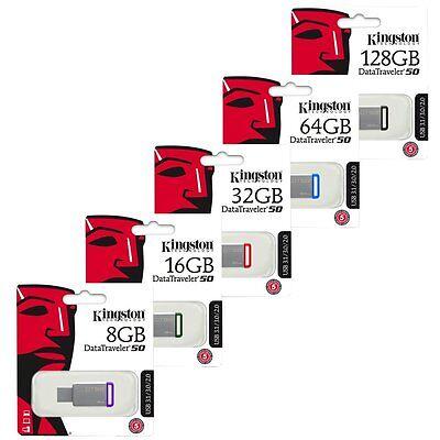 Kingston 8GB 16GB 32GB 64GB 128GB DT50 USB 3.0 Speicherstick Retail online kaufen