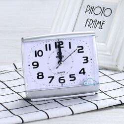 Alarm Clock Analog Table Clock Travel Alarm Clock Quartz Clock Silent Movement