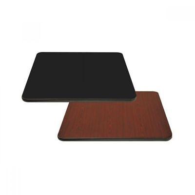 Black 30x30 Table Top Bk Resources Bk-lt1-bm-3030 Square Reversible Laminate