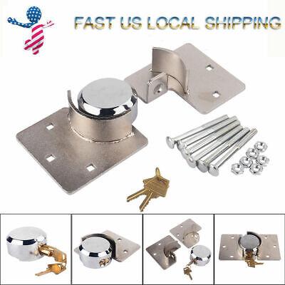 Van Garage Shed Door Security Padlock Hasp Set Lock Heavy Duty 12 73mm Steel
