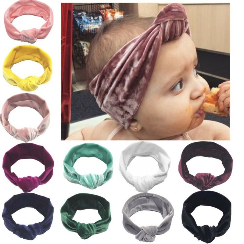 Band Girl Headwear Newborn Cotton Baby 6 Colors Twisted Turban Knot Headband