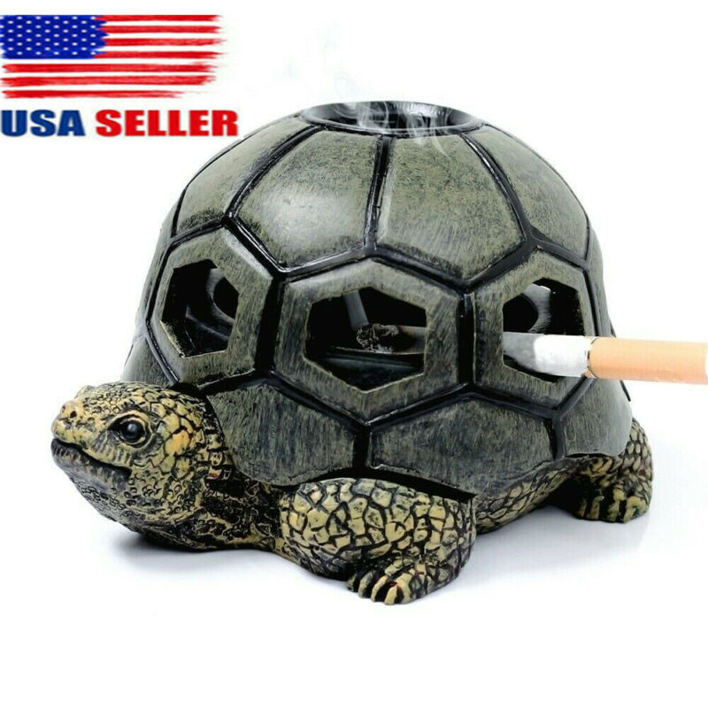 Creative Turtle Ashtray Cigarettes Tortoise Ashtray With Lid Home Table Decor