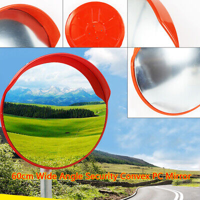 Orange Outdoor Road Traffic Convex Pc Mirror Wide Angle Driveway Safety Security