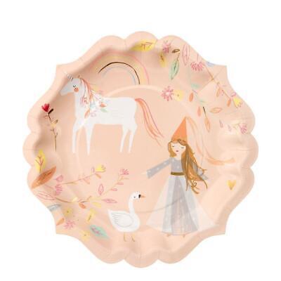 er magischer Prinzessinnen | Partygeschirr Kindergeburtstag  (Prinzessin Pappteller)