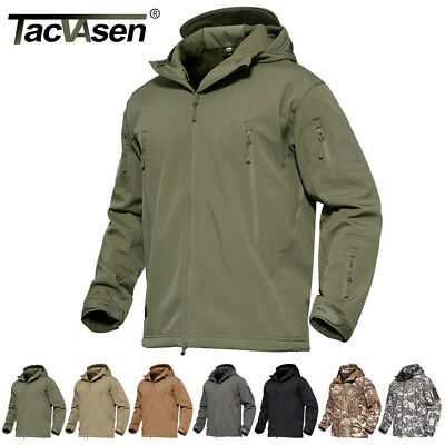 Waterproof Tactical Soft Shell Mens Jacket Coat Army Military Jacket Windbreaker (Military Jacket Men Army)