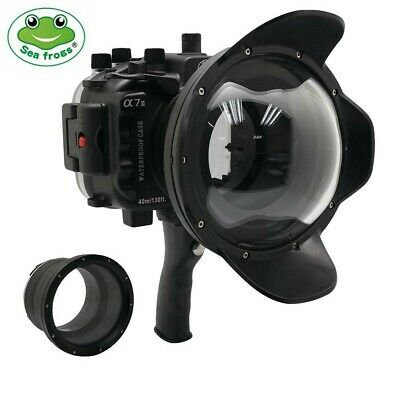 Seafrogs 40m/130ft Underwater Camera Housing Kit w/Dome Port for Sony A7II A7RII