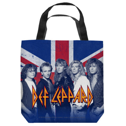 """Def Leppard  """"The Band"""" 16 in x 16 in Tote Bag - New"""