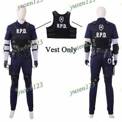 Resident Evil 2 Remake Leon Vest Tanks RPD Men Cosplay Halloween Comic Con