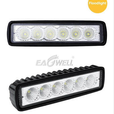 2X 6inch 18W Car Off-Road Driving Fog Light Spot Roof Offroad LED Work Light Bar