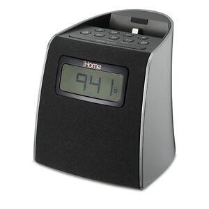 ihome fm clock radio alarm dock for iphone 5 5s 6 with lightning connector ipl22 ebay. Black Bedroom Furniture Sets. Home Design Ideas