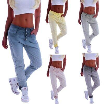 Damen Hose Harem Boyfriend Jeans Jogpants Hüftjeans Baggy Lang Pumphose C79 Damen Baggy Jeans