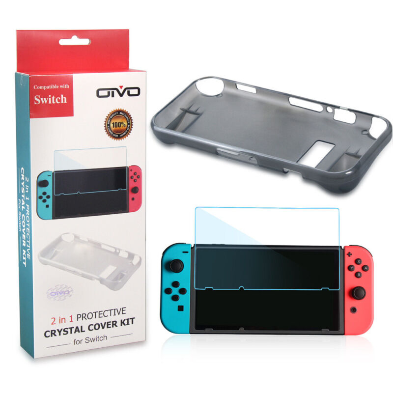 For Nintendo Switch Case Cover Shockproof Protective shell with Screen Protector