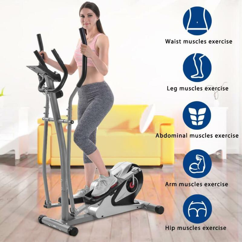 Elliptical Machine Trainer Magnetic Smooth Quiet Driven with LCD Monitor