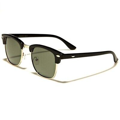 1PC Men Women Retro Vintage Designer Clubmaster Sunglasses Metal Half (Clubmaster Women)