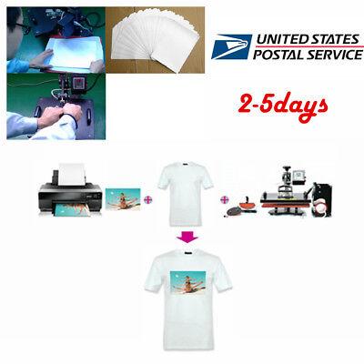 Best 50pcs T-shirt Print Iron-on Heat Transfer Paper Sheets For Darklight Cloth