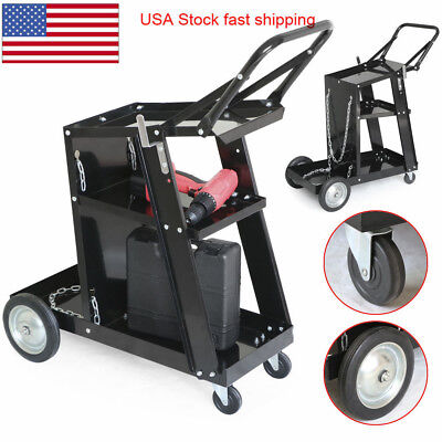 Professional Welding Cart Plasma Cutting Machine Without Drawer Black