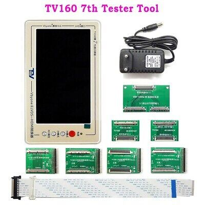 LCD TV Mainboard Tester Tool Vbyone LVDS to HDMI Converter+7 Adapter Boards
