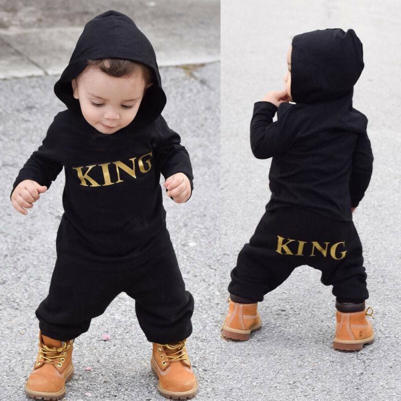 Newborn Toddler Infant Baby Boy Kid King Romper Jumpsuit Bod