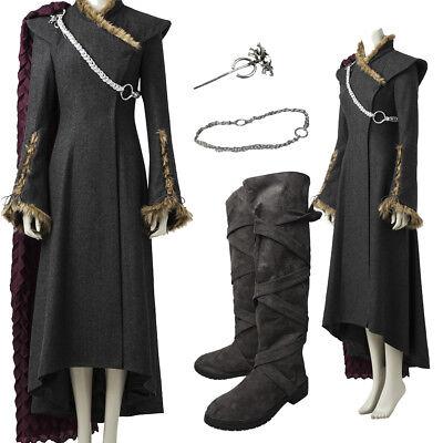 Hot Cakes Game Of Thrones Season 7 Daenerys Cosplay Targaryen Costume Boots Cape