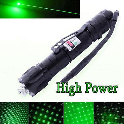 10 Miles Range 532nm Green Laser Pointer Light Lazer Pen Visible Beam High Power